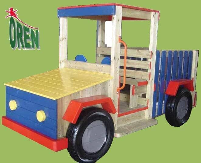 Playground Equipment slides | School Playground Equipment | Wooden Playground Equipment | Commercial Playground Equipment | Elements Playground Equipment - Jeep Wood Open - 1601