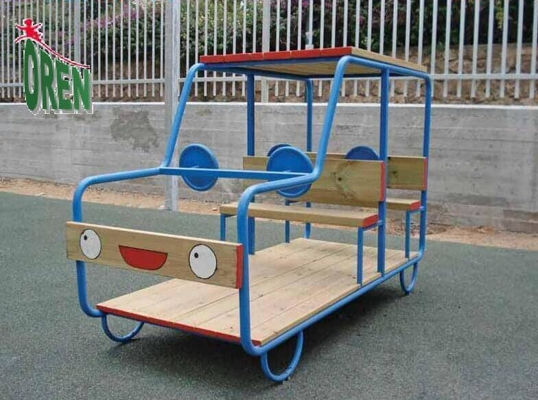 Playground Equipment slides | School Playground Equipment | Wooden Playground Equipment | Commercial Playground Equipment | Elements Playground Equipment - Jeep Closed- 1606