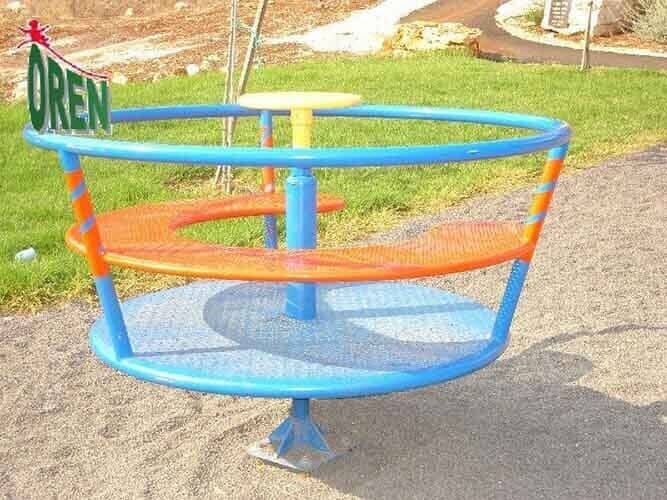 Playground Equipment slides | School Playground Equipment | Wooden Playground Equipment | Commercial Playground Equipment | Elements Playground Equipment - Metal Carousel - 1610