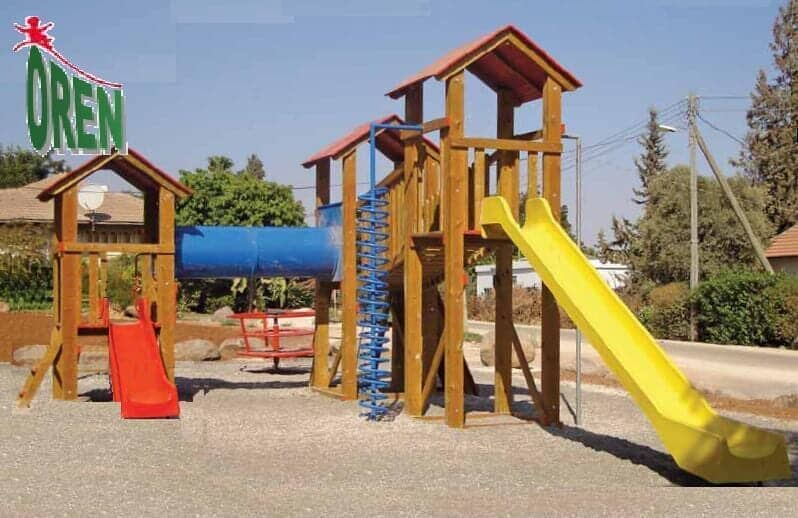 Wooden play facility in Goshen, durable and high-quality - 1105